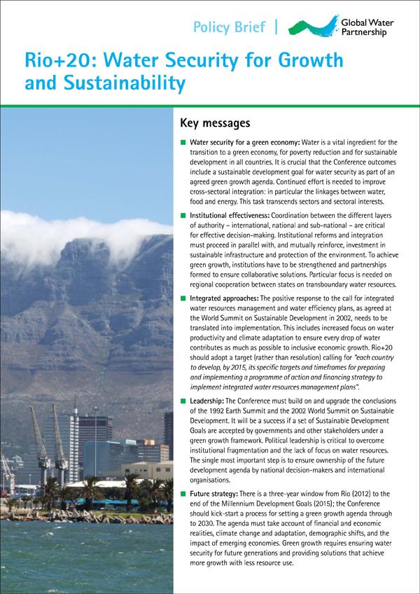 GWP-Rio20 Policy Brief